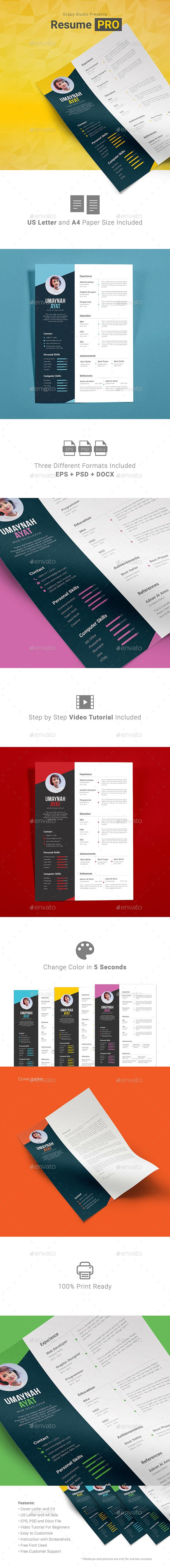 Resume PRO Template PSD, Vector EPS. Download here: http://graphicriver.net/item/resume-pro/16442184?ref=ksioks