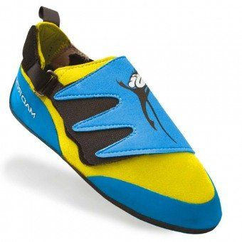 Mad Rock Mad Monkey 2.0 Kids Climbing Shoes (Strap) - Blue/Yellow (4.0 M US) | shopswell