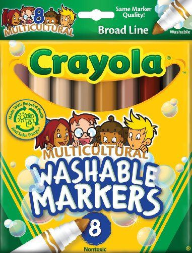 Crayola 8 Count Washable Multicultural Colors Conical Tip Markers Crayola http://www.amazon.com/dp/B000F8V2GS/ref=cm_sw_r_pi_dp_Lcfpvb0Q06NX8