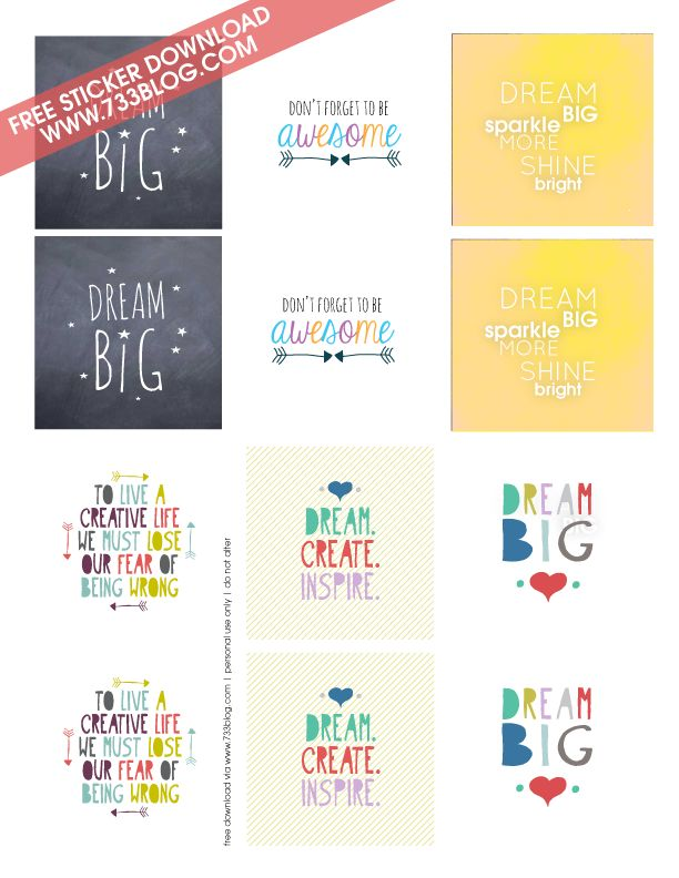 """How to Make Your Own Stickers with 2"""" Labels + Free Printable {seven thirty three - - - a creative blog}"""