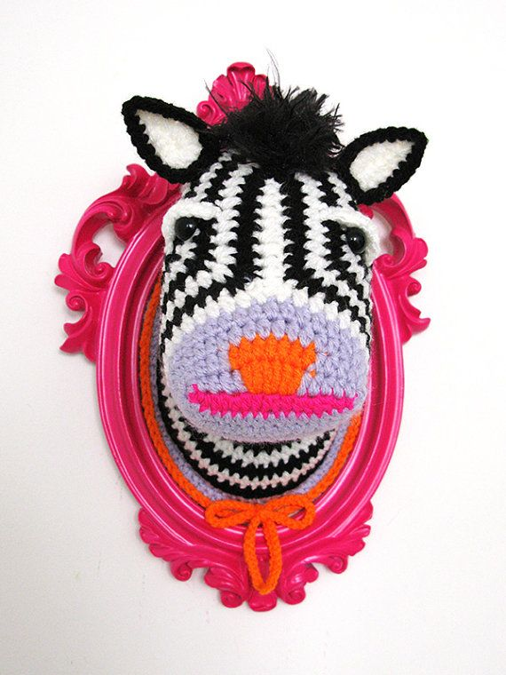 Crochet deer head by ManafkaMina on Etsy