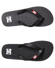 DC SHOES KIDS SPRAY THONG - BLACK