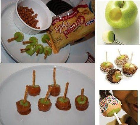 Mini-Karamell-Apfelbissen | Mini Caramel Apple Bites 4 Zoll Lutschersticks … …   – Make Good Things