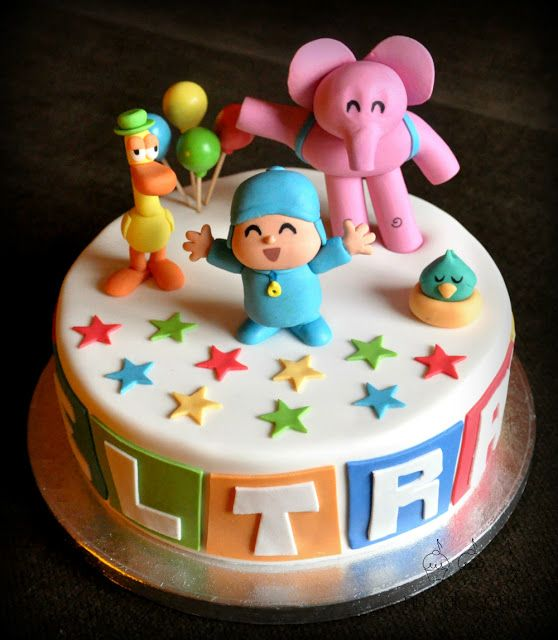 Pocoyo birthday cake idea...