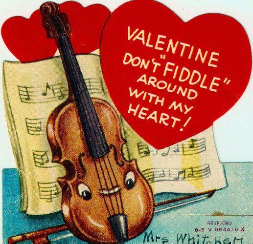 398 best images about Valentine Cards Vintage – Musical Valentines Cards