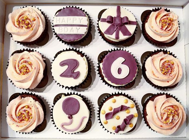 26th Birthday Cupcakes by Aliya's Cakes | Cupcakes | Birthday Cake