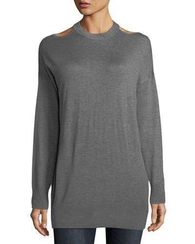 Splendid Canarise Cutout Cashmere Blend Sweater Splendid Cloth