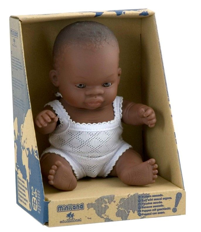 I would love this for my bubba Girl. Miniland - Doll African Boy 21cm #EntropyWishList #PinToWin