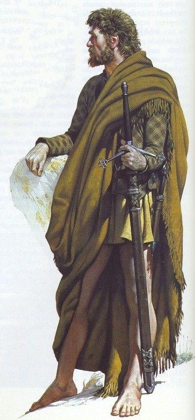 Angus McBride - Guerrero escocés, c 1570