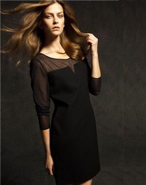 robe noire et transparente de massimo dutti