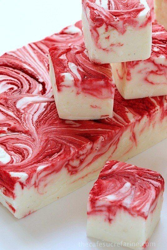 White Chocolate Strawberry ~Fantasy~ Fudge