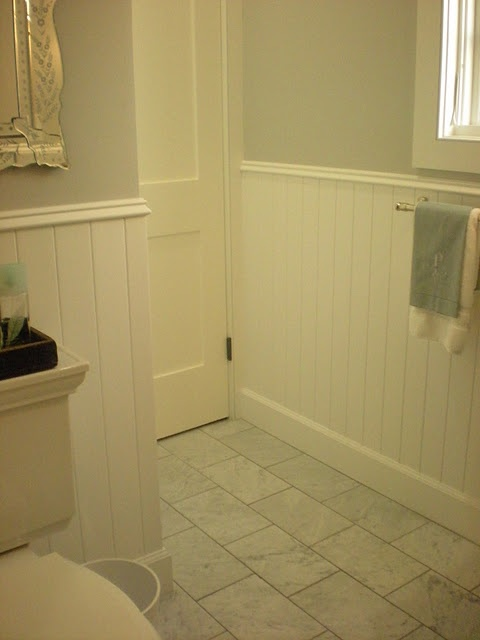 The Carrarra Marble Floor Tiles Are From Home Depot Home Remodeling Ideas Pinterest