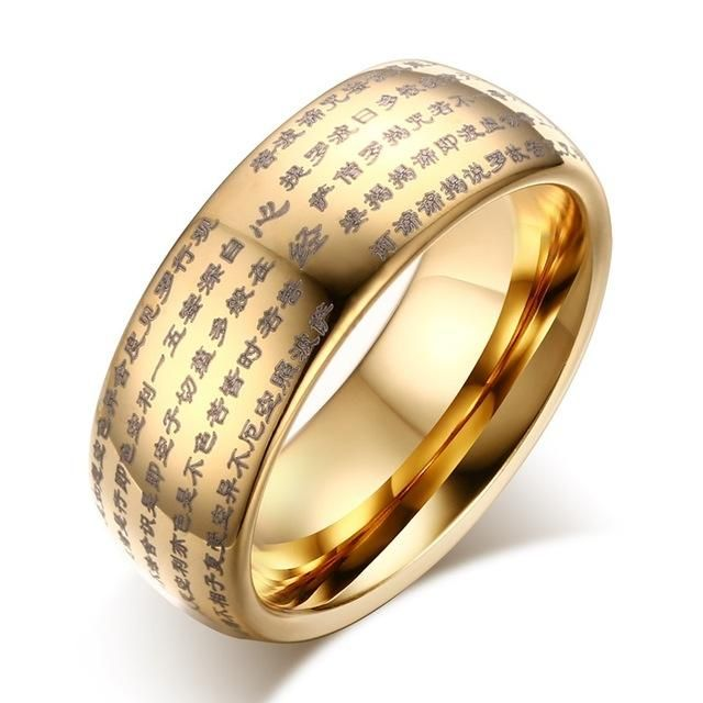 Check out Men's Wedding Band Engraved With Buddhist Scriptures | Tungsten | Gold or Silver Plated Made with lots of love! ❤️  http://qatalyst.company/products/vnox-chinese-words-buddhist-texts-dome-ring-for-men-8mm-tungsten-carbide-jewelry?utm_campaign=crowdfire&utm_content=crowdfire&utm_medium=social&utm_source=pinterest  #swag #beard #ringswag #fingerswag #instagood