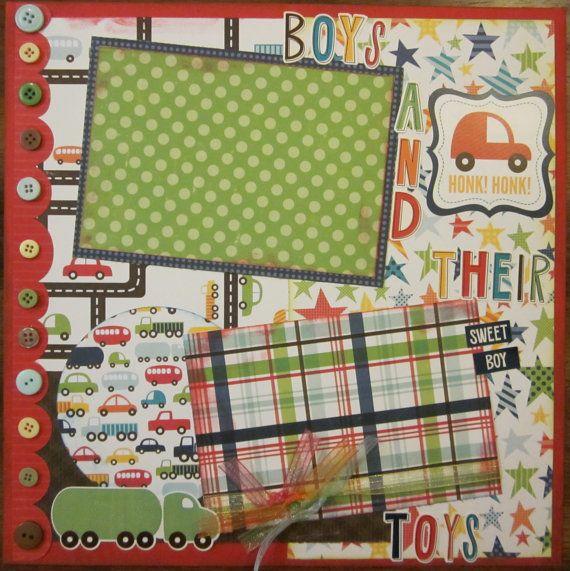 Two 12x12  Little Boy Premade Scrapbook by JCScrapbookAndDesign, $27.00