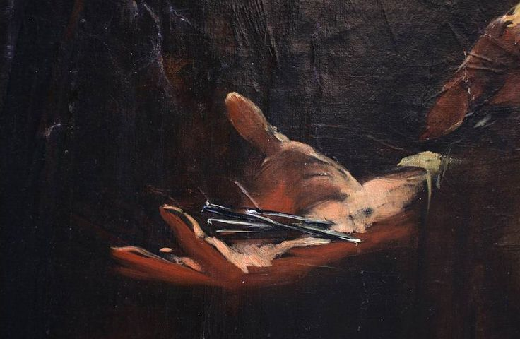Mihály Munkácsy (Hungarian, 1844-1900). Blood Ritual (detail), between 1882-87