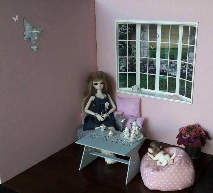 table basse   accessoire diorama 1/4 pour poupées BJD minifée MSD, ellowynn wilde, tonner ou autres de même tailles de la boutique SunnyShop211 sur Etsy