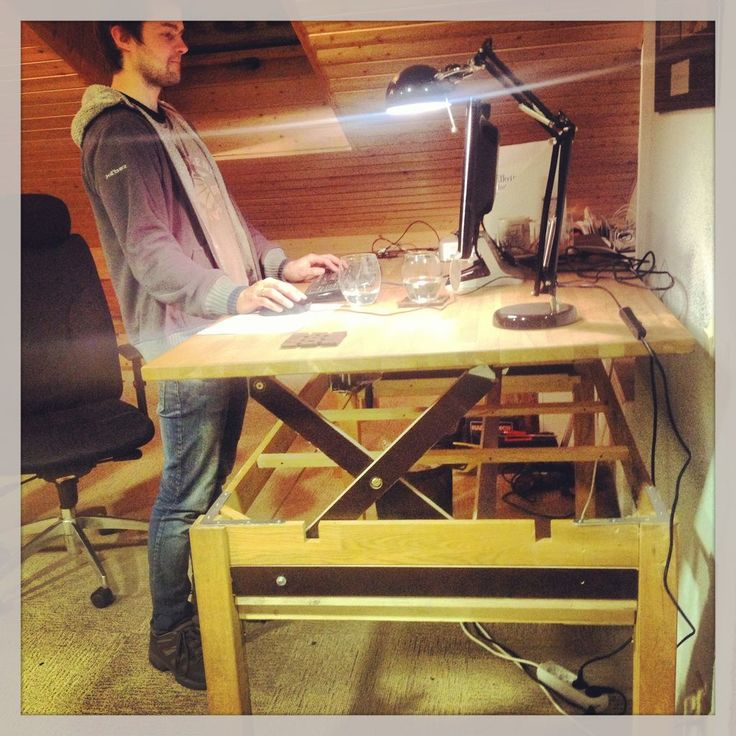 Best DIY Standing Desk Images On Pinterest Music Stand Stand - Adjustable height desk diy
