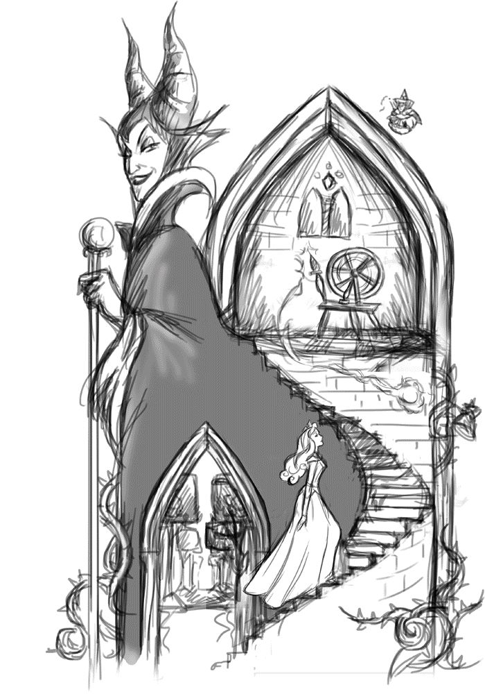 GIF (StepByStep) Sleeping Beauty - Maleficent by Chris-Darril