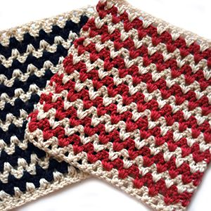 Free Easy Crochet Dishcloth Pattern - mellie blossom