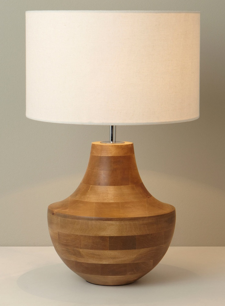 Wooden table lamp  lighting  Pinterest