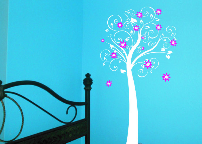 Flister #decoraconvinil #vinilosdecorativos #decoracion #decoratupared #arbol #flores #hojas