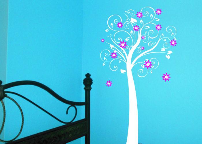 Flister #decoraconvinil #vinilosdecorativos #decoracion #decoratupared #arbol #flores #hojas