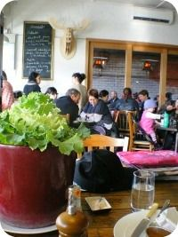 Pope Joan :: Brunswick East :: High Chair - Kids Eats - Crayons and Paper
