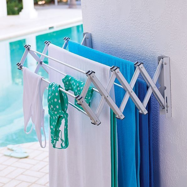 Dry towels by the pool or in your laundry room.