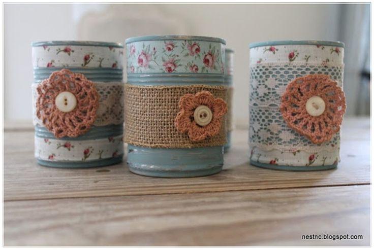 decoratie potjes voor bijv. bloembollen