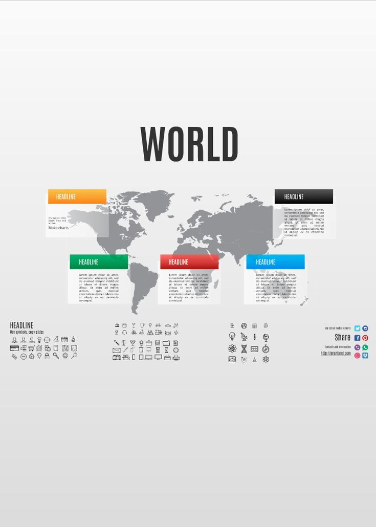 World Prezi template with World map background http://preziland.com/