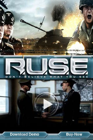 Flash banner campaign for the Ubisoft game RUSE