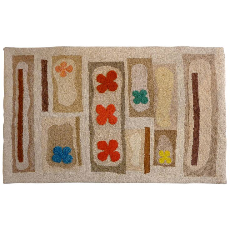 Hand-Tufted Mid-Century Rug | From a unique collection of antique and modern north and south american rugs at…