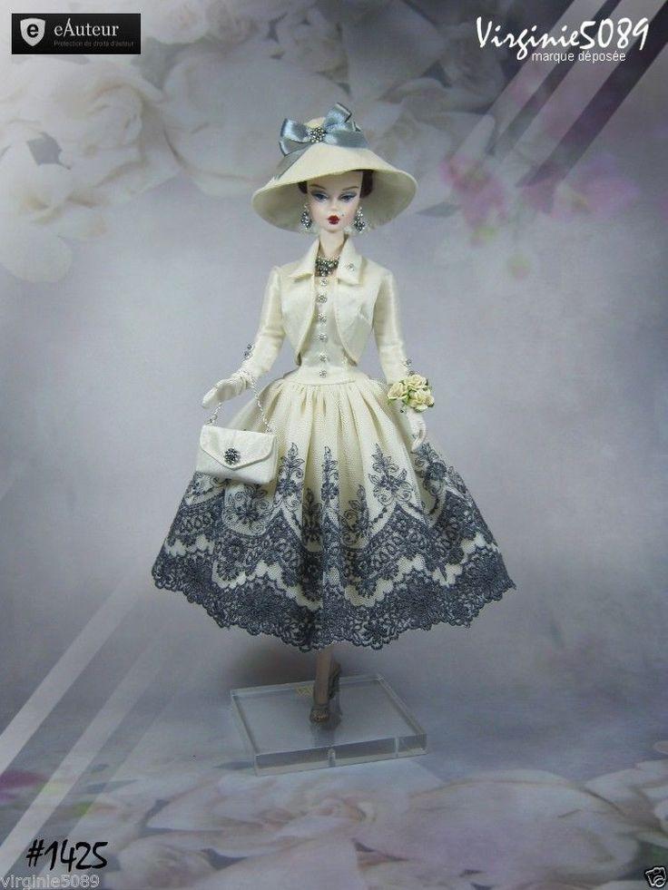 Tenue Outfit Accessoires Pour Fashion Royalty Barbie Silkstone Vintage 1425 | eBay