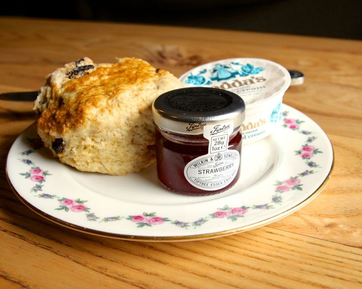 Scones with jam and clotted cream at Hattie's Baslow www.hattiesbaslow.co.uk