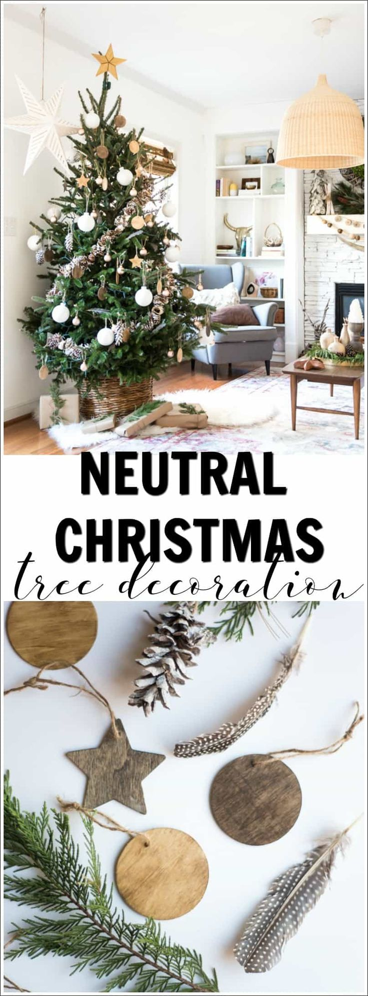 242 best christmas decor and diy images on pinterest christmas come and see this beautiful neutral christmas tree decoration yourself so pretty and there are solutioingenieria Images