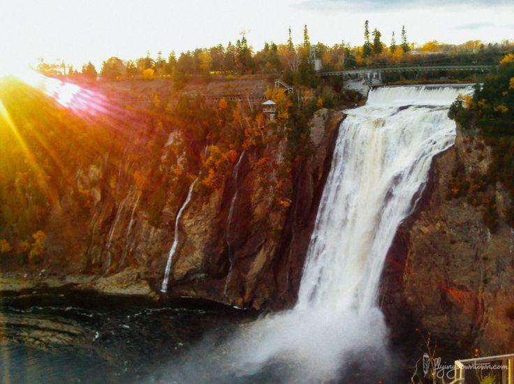 La Chute Montmorency au Québec en automne