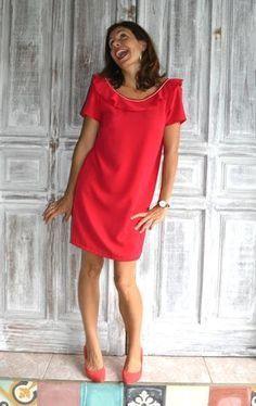 """Le NOUVEAU PATRON FEMME est en ligne !!! Voici """"I LOVE U"""", un patron 2 en 1, à décliner en robe ou en top ! Rapide à coudre, à la fois glamour et facile à porte"""