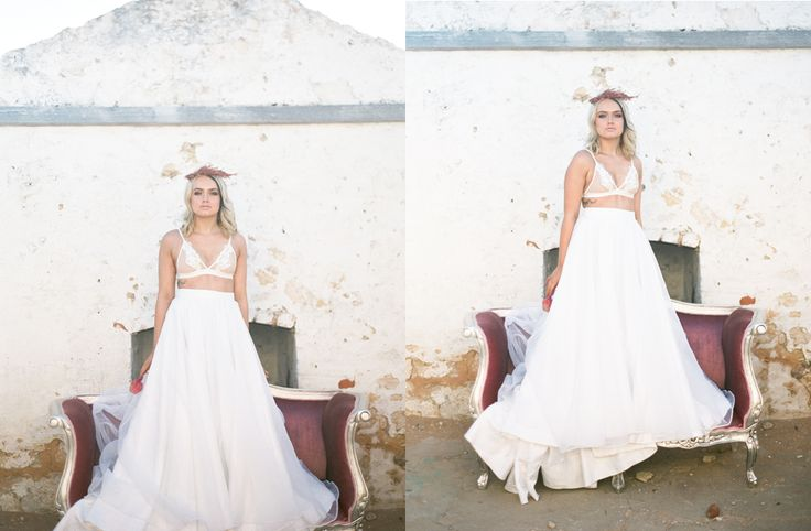 Wedding dress skirt size 8 / 10 / 12  Paige | Fine Art Film Boudoir - Feather & Sage Portrait