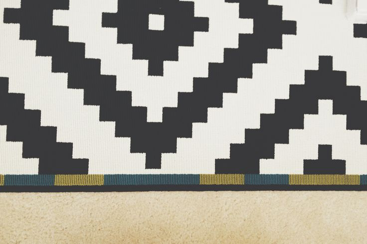 black white tribal rug from ikea for the home