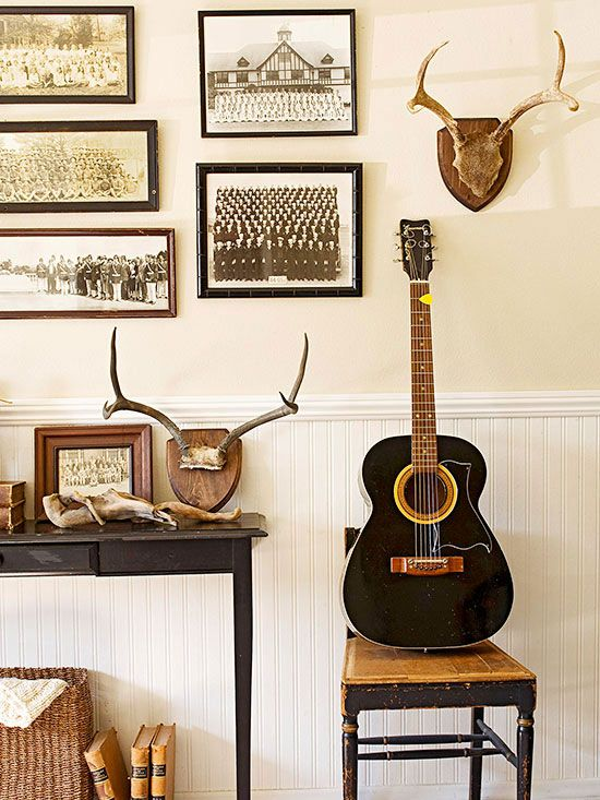 Taxidermy and antlers are hot in home decor and can add a little rustic appeal.