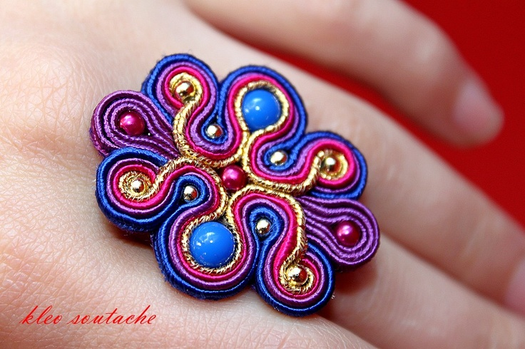 Sutasz Kleo /Soutache jewellery: pierścionek/ring