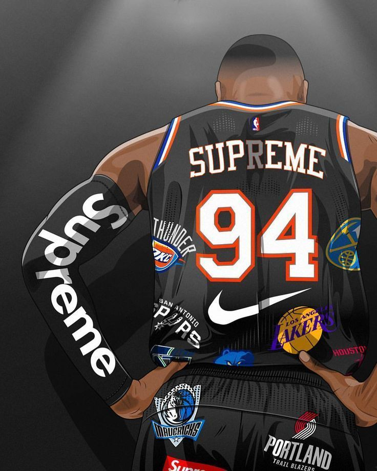 Get Your Free Nba Jersey Now In 2020 Supreme Wallpaper Nba Basketball Art Basketball Wallpaper