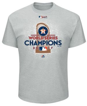 Majestic Houston Astros 2017 World Series Champ Locker Room T-Shirt, Big Boys (8-20) - Gray
