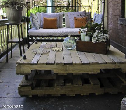 industrial look pallet coffee table, diy renovations projects, pallet projects, repurposing upcycling, added some more slats and LOVE it