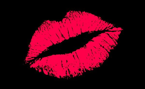 Pink Lips Black Wall Mural In 2020 Lip Wallpaper Pink Lips