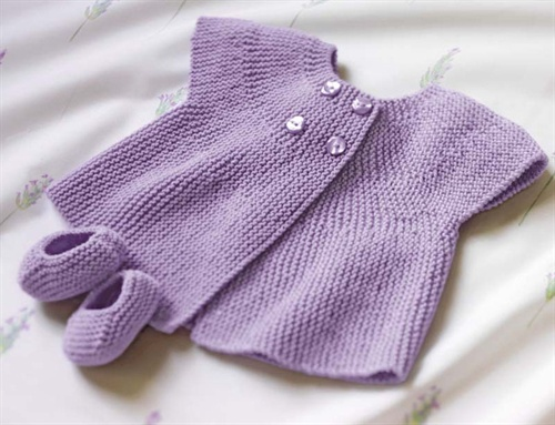Bergere de France Cap Sleeve Jacket & Bootees Knitting Pattern