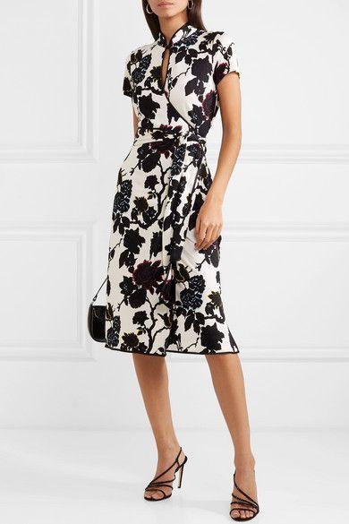 a802ae7723b6 Diane von Furstenberg | Nicole floral-print silk-crepe wrap dress |  NET-A-PORTER.COM