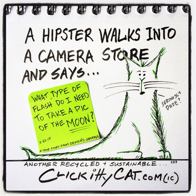Photography-centric web comic CLICKittyCAT published a series of one-liner comics this week based on true stories it gathered from a camera store in Ventura