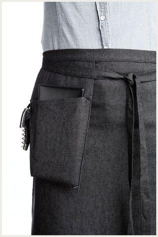 Girl Apron Half Shannon Reed - Designer Half Apron - Hanging Pocket