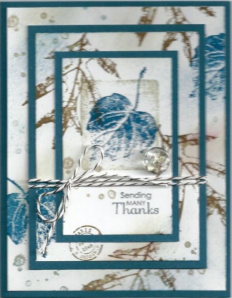 Triple Stamping SU French Foliage Card